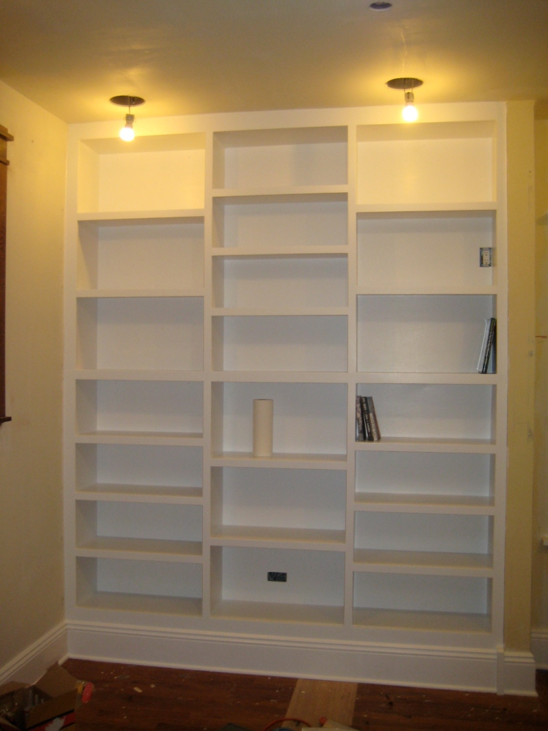 built in bookcase plans diy White Built in Bookcase Depth of Built in Bookcase with Cabinet