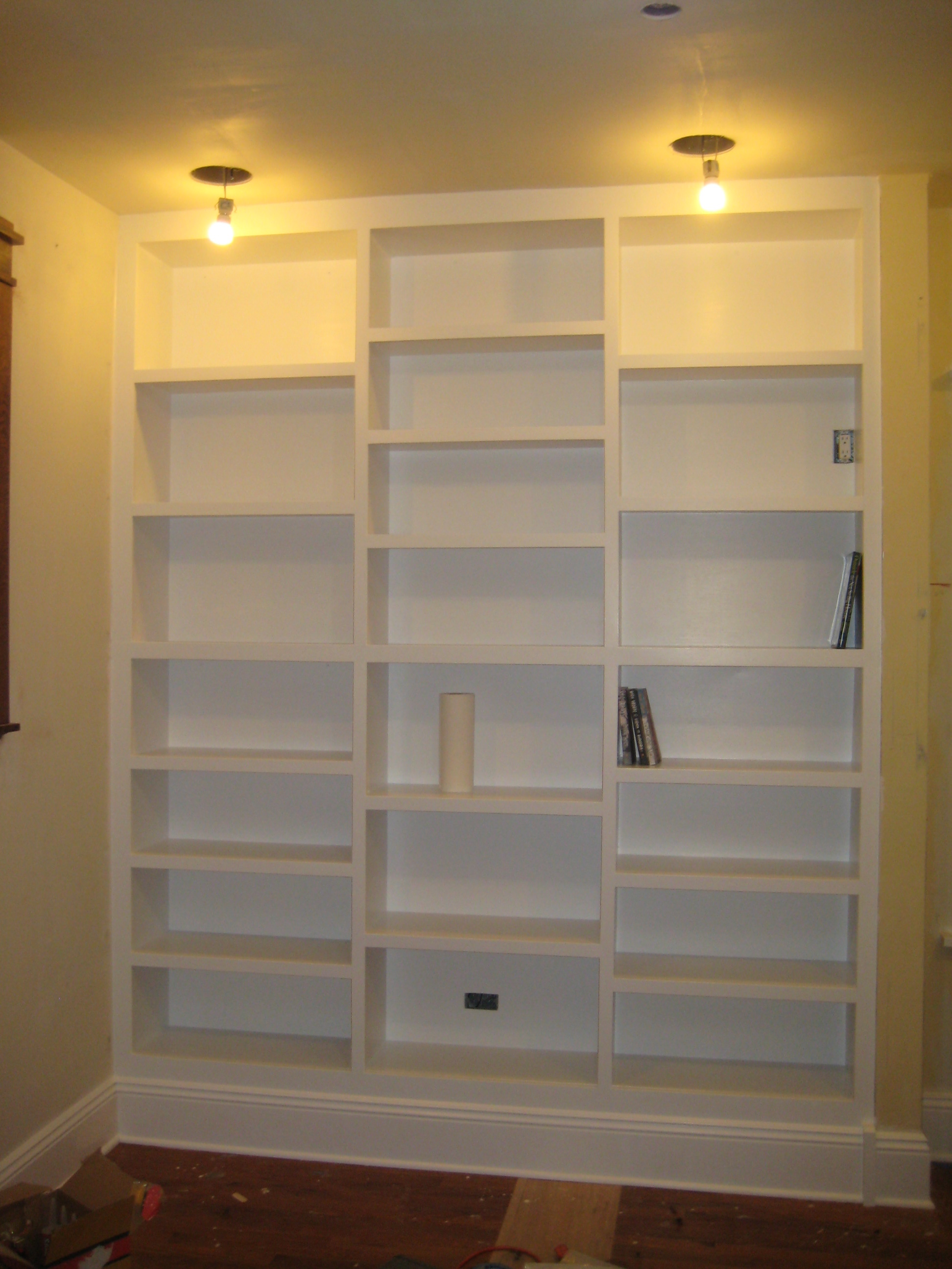 built in bookcase and cabinet plans | Roselawnlutheran