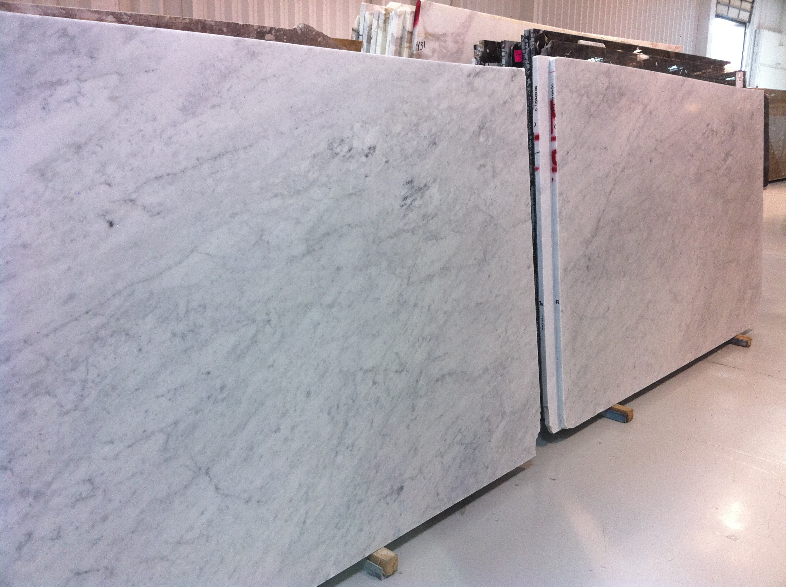 Honed carrara marble countertops kitchen for How to hone marble